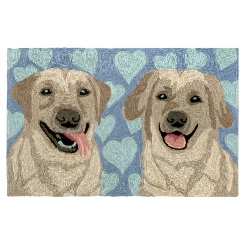 Frontporch Puppy Love Blue Rug - Liora Manne - image 1 of 2