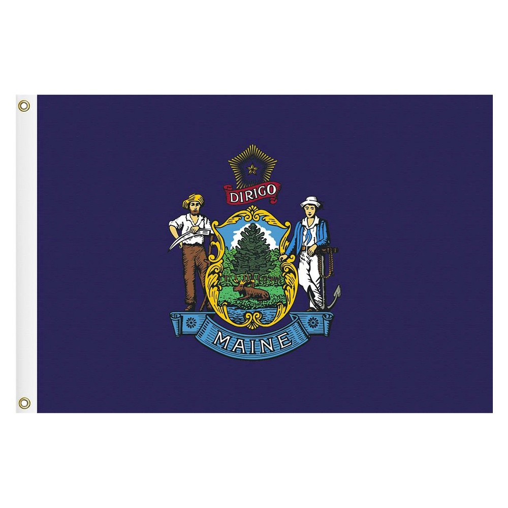 Image of Halloween Maine State Flag - 3' x 5'