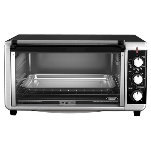 Black Decker 8 Slice Extra Wide Convection Countertop Toaster Oven Stainless Steel To3250xsb Target