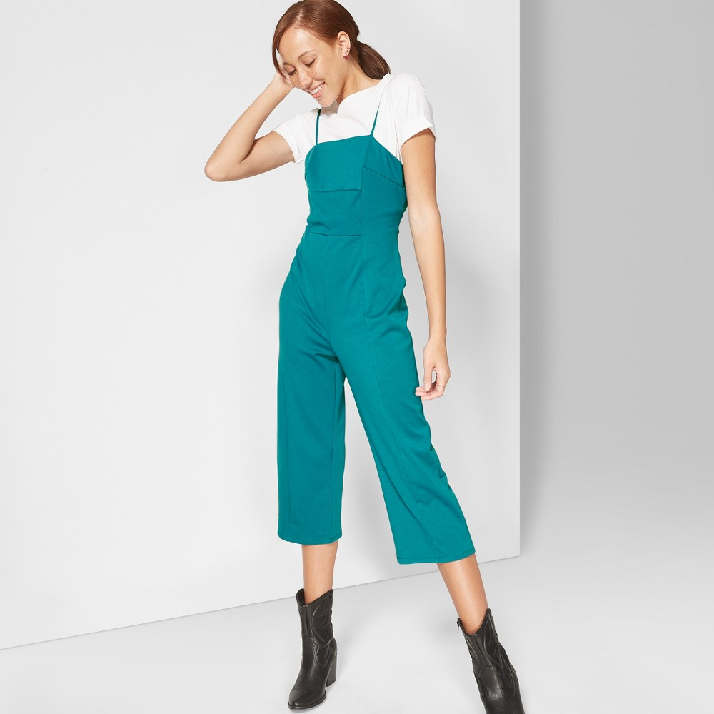 Women's Strappy Knit Jumpsuit - Wild Fable Fiji Teal M, Blue