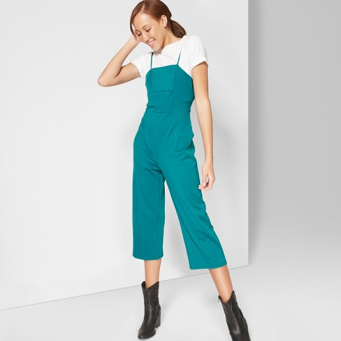 Women's Strappy Knit Jumpsuit - Wild Fable™ Fiji Teal - image 1 of 3