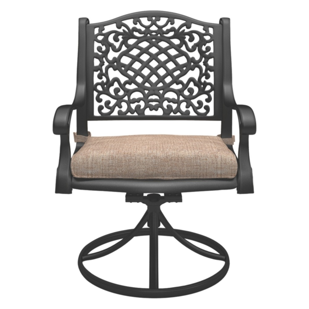 Rose View Swivel Chair with Cushions - Brown - Outdoor by Ashley
