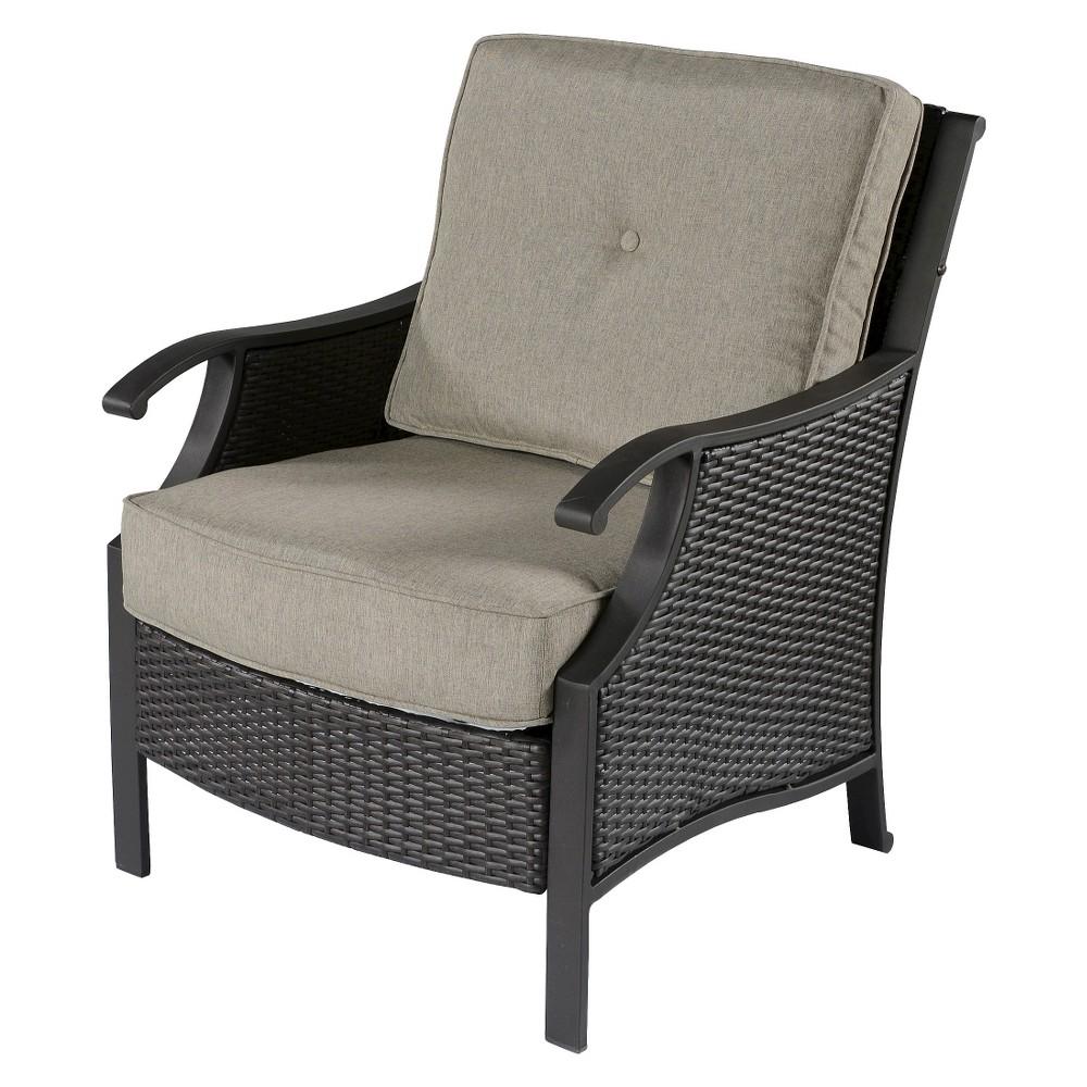Capitol Peak 4-Piece Wicker Patio Chair Set, Gray