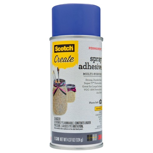 Spray Adhesive 4.3 oz Clear Scotch - image 1 of 5
