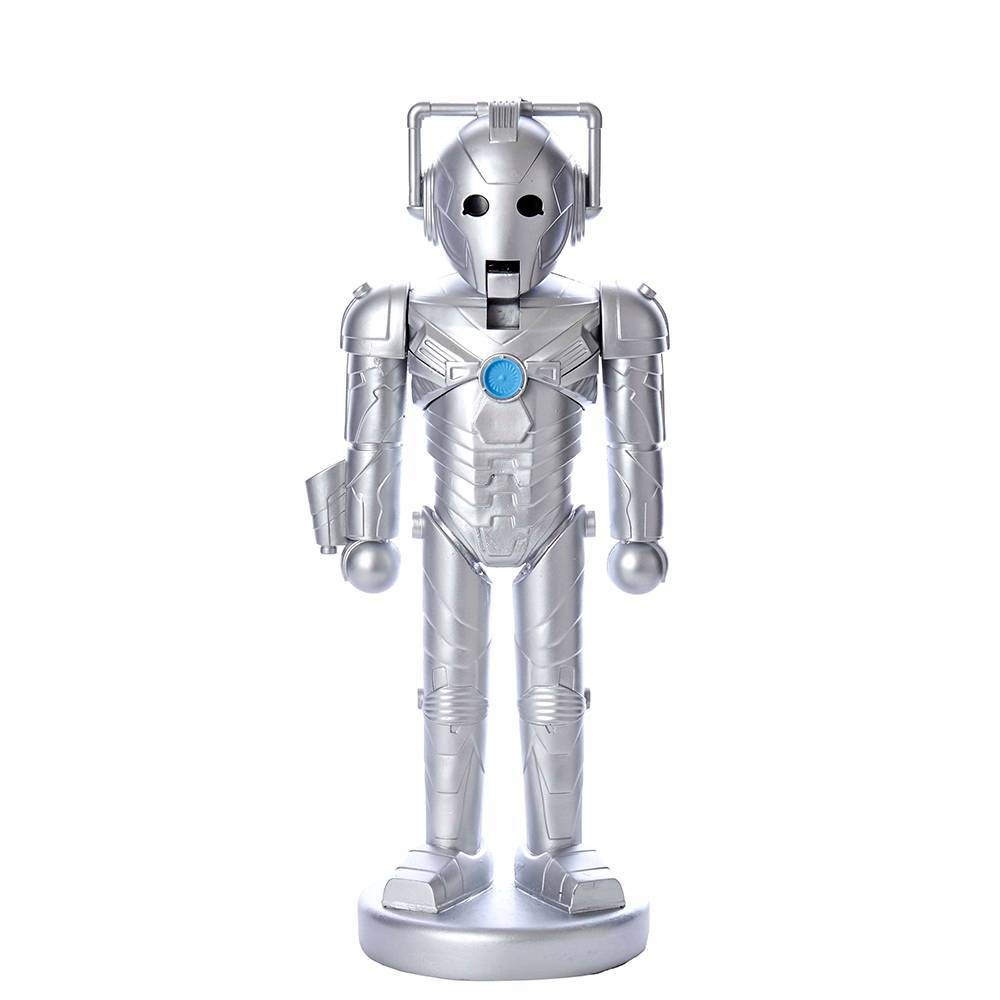 "Image of ""10.25"""" Kurt Adler Doctor Who Cyberman Nutcracker Decorative Sculpture"""