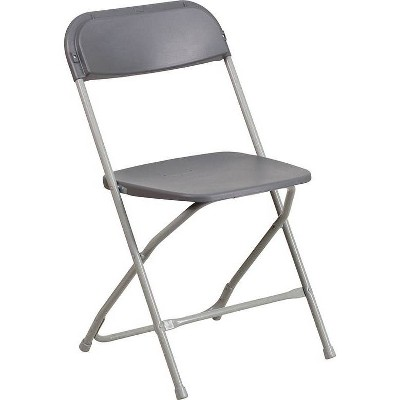 Riverstone Furniture Collection Plastic Folding Chair Gray