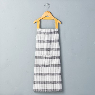 Kids Bold Stripes Cooking Apron Railroad Gray/Yellow - Hearth & Hand™ with Magnolia