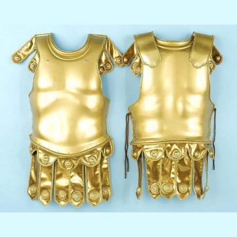 Forum Novelties Golden Roman Deluxe Chest & Back Plate Armor Adult Costume Set - image 1 of 1