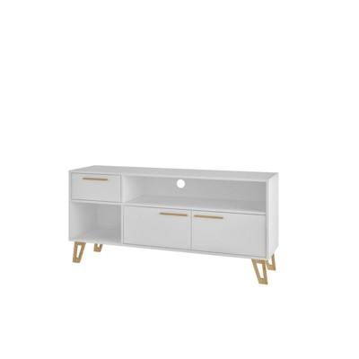 53.14  Doris Mid Century Modern TV Stand with 1 Drawer White - Manhattan Comfort