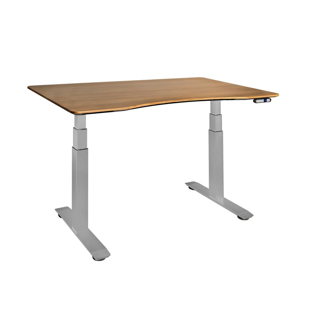 Image of Airlift S3 Height Adjustable Standing Desk Frame with 4 Memory Buttons Dark Brown - Seville Classics
