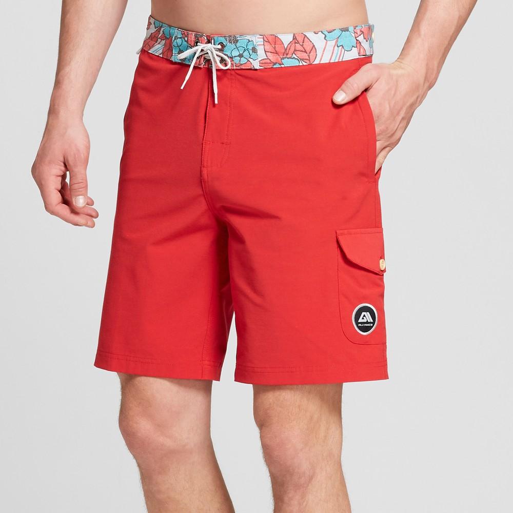 Mens 9 Caravan Board Shorts Orange 30