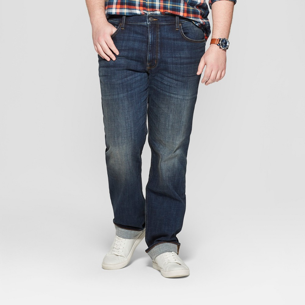 Men's Tall Slim Straight Fit Jeans - Goodfellow & Co Dark Vintage 33x36, Blue