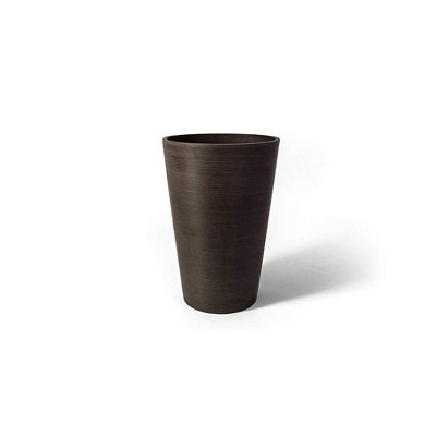 Algreen 16130 Valencia 12 x 18 Inch Round Taper Recycled Planter Pot, Chocolate