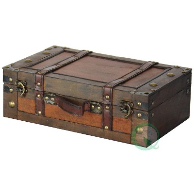 Vintiquewise Old Style Suitcase With Straps