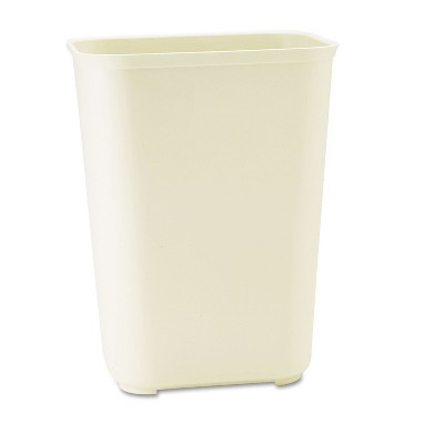 Rubbermaid Commercial Fire-Resistant Wastebasket Rectangular Fiberglass 10gal Beige 254400BG