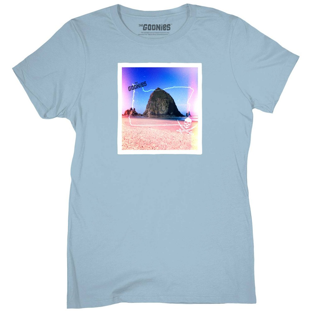 Women's Goonies Scene Plus Size Short Sleeve Graphic T-Shirt (Juniors') - Light Blue 2X