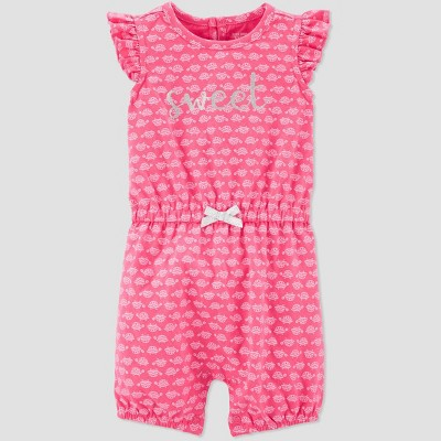 Baby Girls' Turtle Print One Piece Romper - Just One You® made by carter's Pink 6M