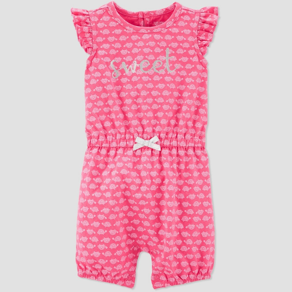 Best Discount Baby Girls Turtle Print One Piece Romper Just One You Made By Carter Pink 3M