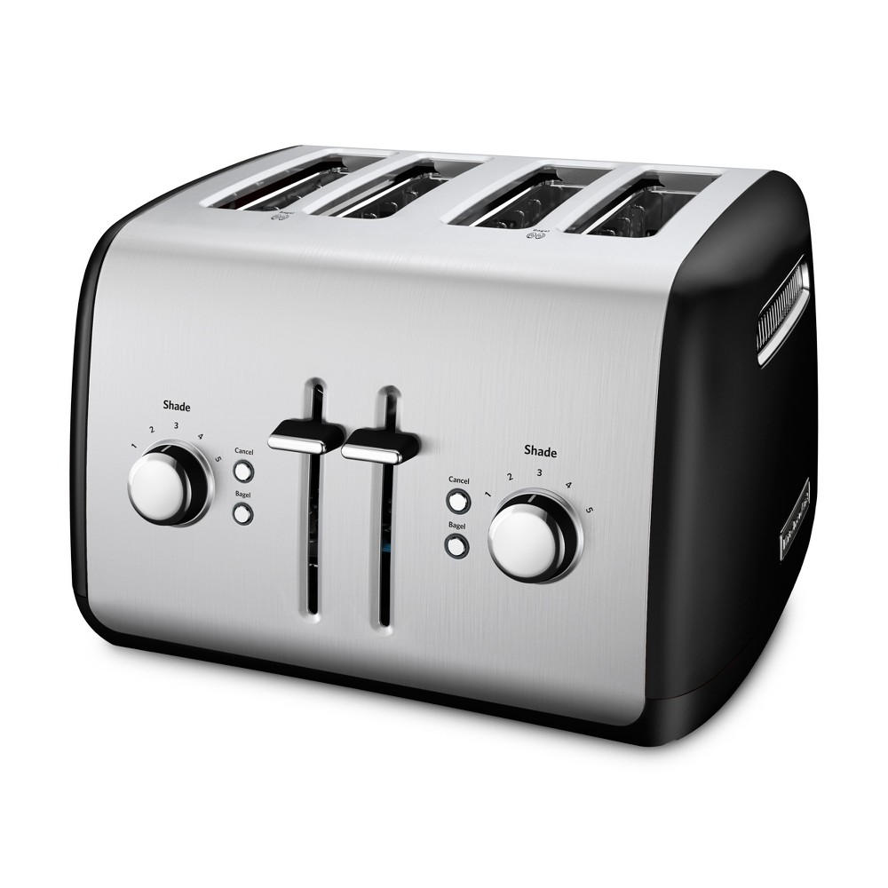 KitchenAid Refurbished 4 Slice Toaster Onyx Black – RKMT4115OB 53960838