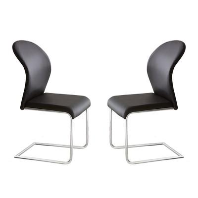 Set of 2 Tarik Side Chairs Black - Steve Silver