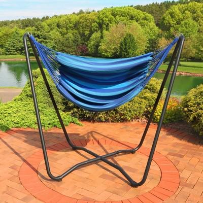 Beau Hammock Chair Swing And Stand Set   Beach Oasis   Sunnydaze Decor : Target