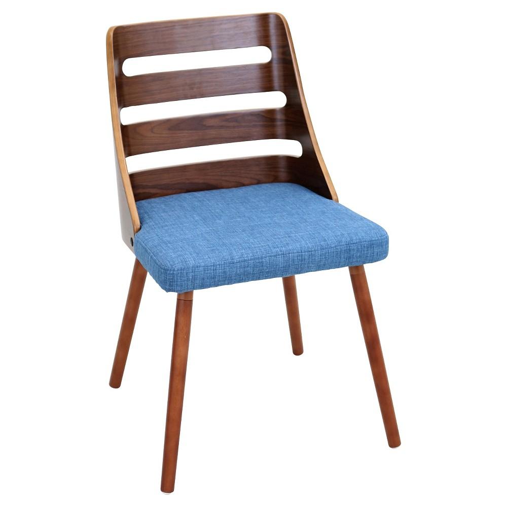 Trevi Mid Century Modern Fabric Blue Lumisource