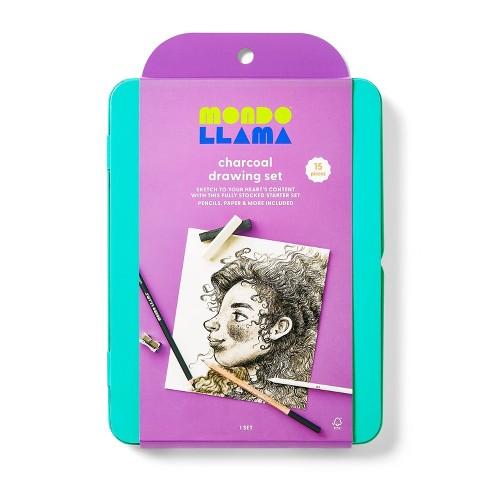 15pc Charcoal Drawing Set - Mondo Llama™ - image 1 of 4