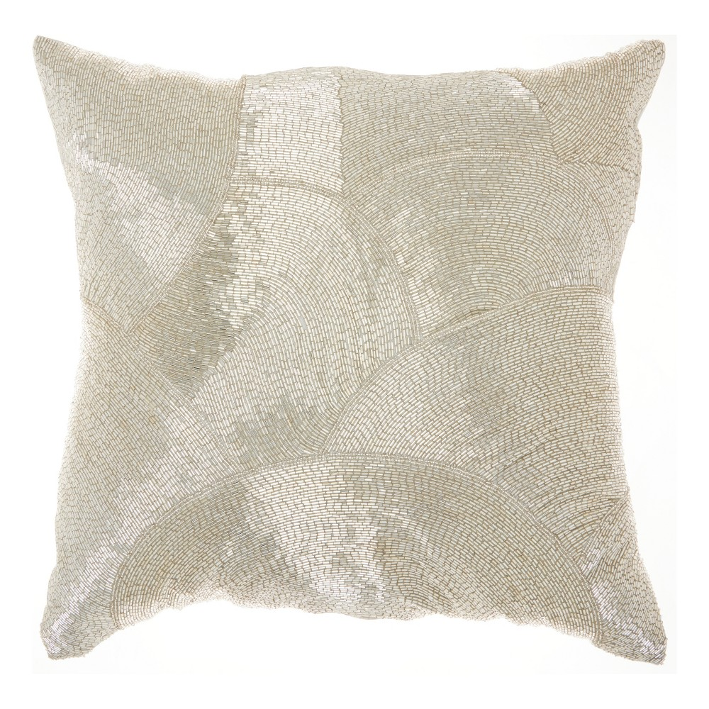 Image of Silver Mosaic Throw Pillow - Mina Victory