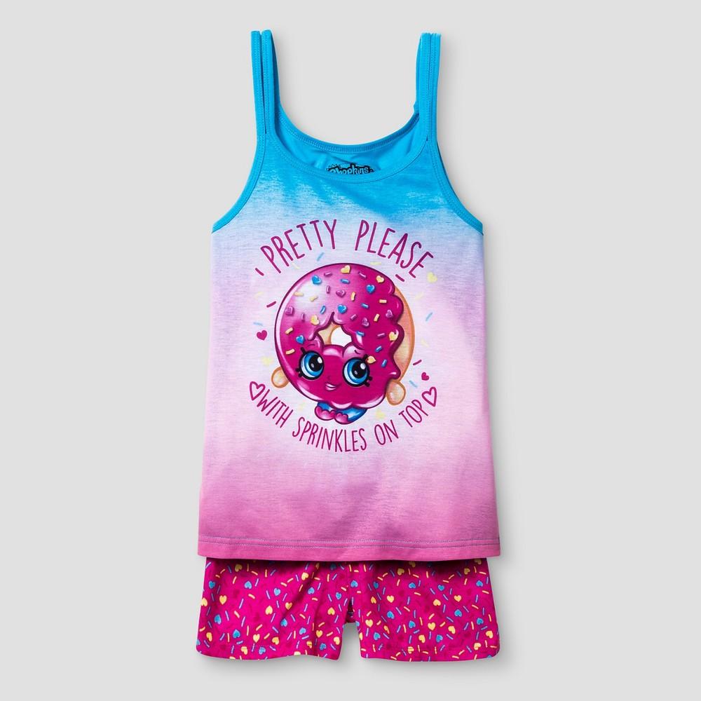 Girls' Shopkins Pajama Set - Pink L, Size: L(10-12)