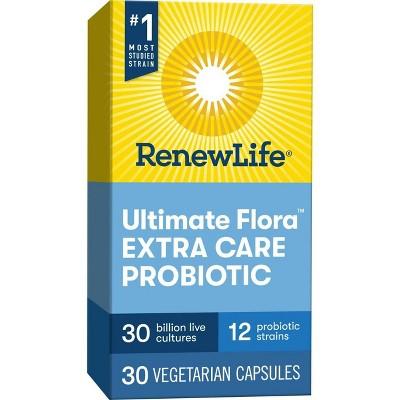 Renew Life Ultimate Flora Probiotic for Extra Care Vegetarian Capsules - 30ct