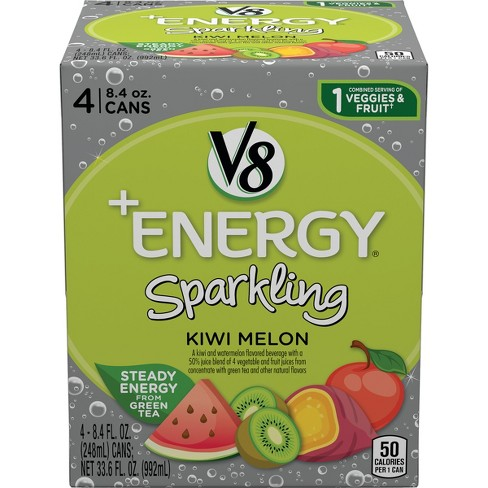 V8 Energy Review >> V8 Energy Sparkling Kiwi Melon Juice 4pk 8 4 Fl Oz Cans Target