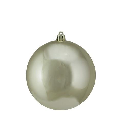 "Vickerman 4"" Shiny Shatterproof Christmas Ball Ornament - Champagne - image 1 of 1"