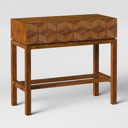 Strange Tachuri Geometric Front Console Table Brown Opalhouse Inzonedesignstudio Interior Chair Design Inzonedesignstudiocom