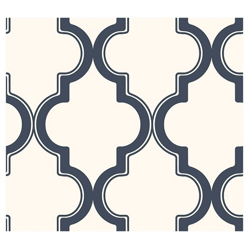Devine Color Cable Stitch Peel & Stick Wallpaper Navy/Cream - image 1 of 4