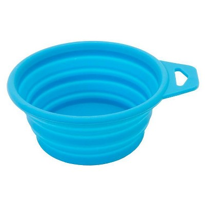 Silicone Collapsible Dog & Cat Bowl - Blue - 4cups - Sun Squad™