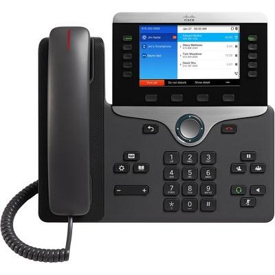 Cisco 8851 IP Phone - Bluetooth - Desktop, Wall Mountable - Charcoal - VoIP - Caller ID