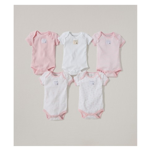 Burt's Bees Baby® Organic Cotton 5pk Short Sleeve Bodysuit Set - Blossom - image 1 of 1