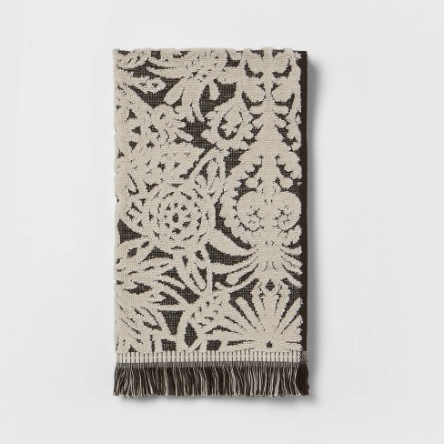 Allover Pattern Towels Black/White - Opalhouse™ - image 1 of 4