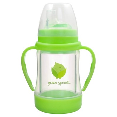 green sprouts® Glass Sip & Straw Cup - Green