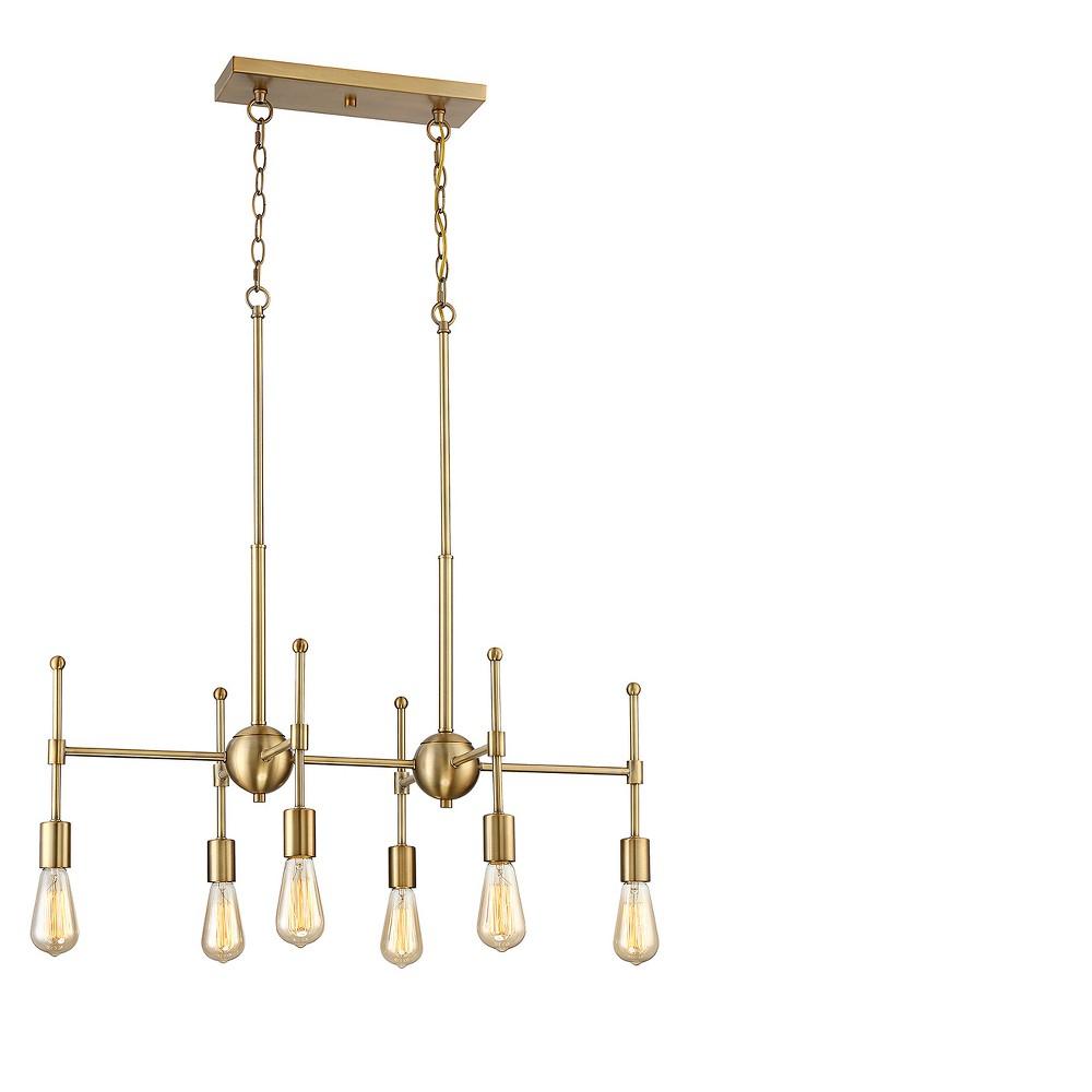 Natural Brass Chandelier (Set of 6) - Filament Design