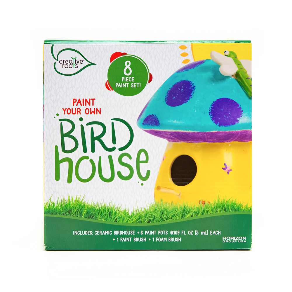 Image of Creative Roots Paint Your Own Ceramic Birdhouse, White