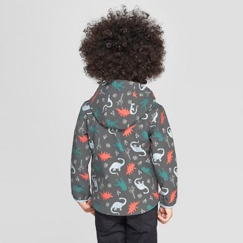 9e7d6255d3d5 Toddler Boys  Dinosaur Softshell Jacket - Cat   Jack™ Charcoal   Target