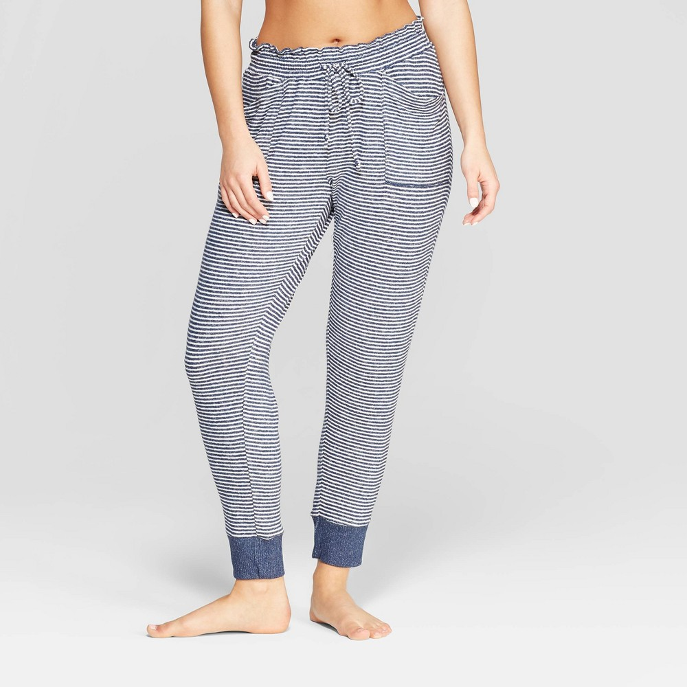 Women's Striped Perfectly Cozy Lounge Jogger Pants - Stars Above Navy XS, Blue