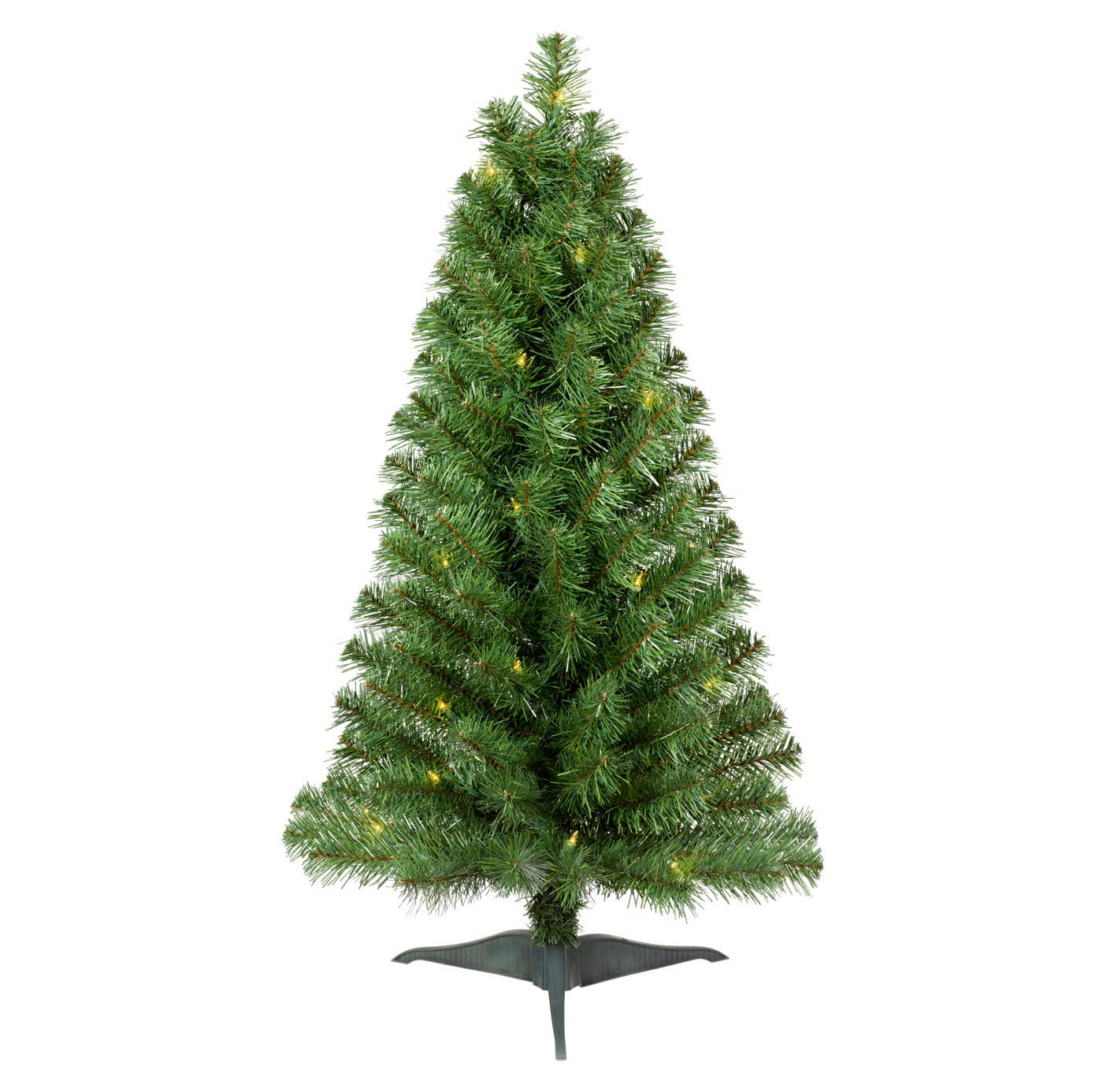 3ft Christmas Trees Artificial: 3ft Prelit Slim Artificial Christmas Tree Alberta Spruce
