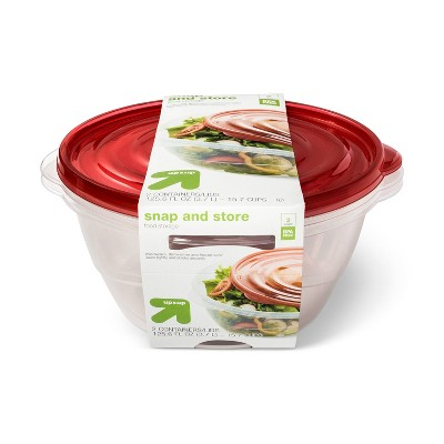 Snap And Store Large Round Bowl Food Storage Container - 2ct/125.6 fl oz - Up&Up™