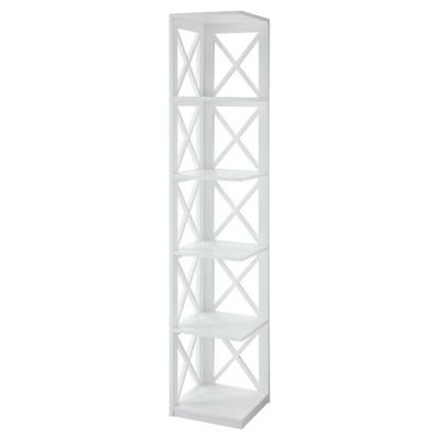Decorative Bookshelf 63.75  White - Convenience Concepts®