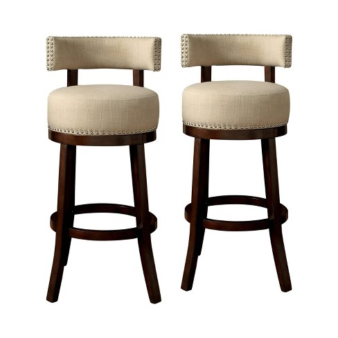 """24"""" Set of 2 Jefferson Barstool Upholstered Seat - HOMES: Inside + Out - image 1 of 3"""