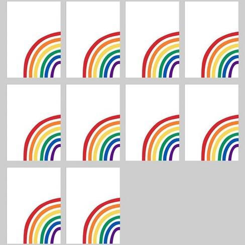 10pk Pride Rainbow Posters - Bullseye's Playground™ - image 1 of 1