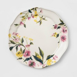 "11"" Melamine Floral Dining Plate - Threshold™"