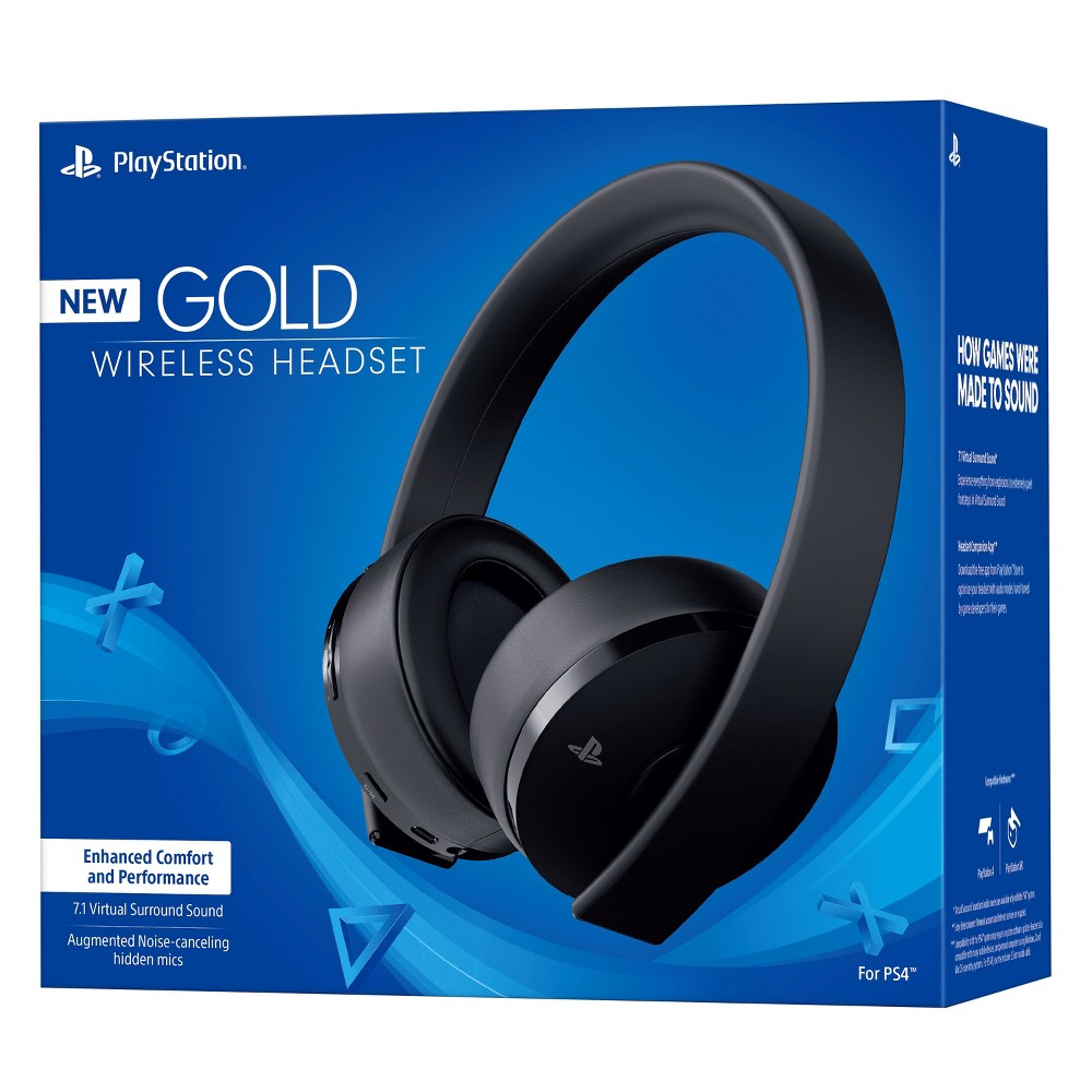 PlayStation Gold Wireless Gaming Headset, Black
